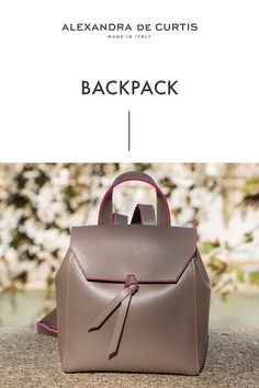 Are you looking for a designer leather handbag? Click through to check out the Backpack, handmade in Italy with smooth