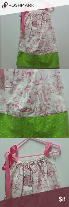 Homemade pillowcase dress mother goose print Dresses Casual