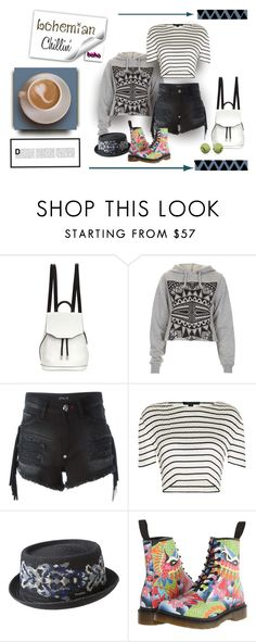 """Chillin'"" by michelletheaflack ❤ liked on Polyvore featuring rag & bone, Illustrated People, Philipp Plein, Alexander Wang, kangol, Dr. Martens, Victoria, Victoria Beckham and comfy"