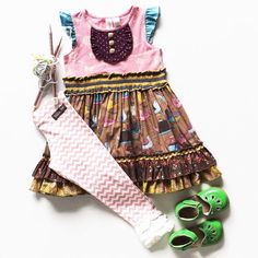 Matilda Jane Love this dress one of our faves Toddler Fashion, Kids Fashion, Boho Girl, Matilda Jane, Pattern Fashion, Doll Clothes, What To Wear, Kids Outfits, Jane Clothing