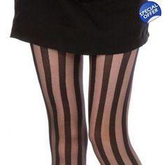 Pamela Mann Sheer Vertical Stripe Tights