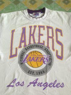 CLEARANCE SALE 40% LA Lakers Nba White L size Shirt d1ce8dcd5