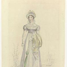 La Belle Assemblée, 1 June 1822, No. 162 : Walking Dress; Rijksmuseum RP-P-2009-2608