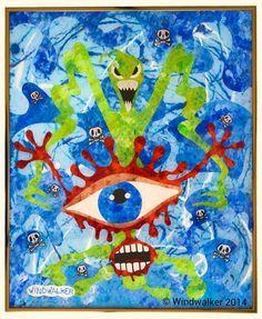 Reverse+Glass+Painting++Eye+Scared++Windwalker+by+WindwalkerArt,+$325.00