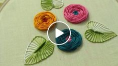 Hand Embroidery Designs | Rose flower design | Stitch and Flower-144 https://youtu.be/Q24TSI5WqVw Store: http://handembstitch.blogspot.com/p/embroidery-store.html In the world of garments, embroidery is an important cornerstone, without which our lives w