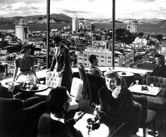 """Top of the Mark,"" a rooftop bar at the Mark Hopkins Hotel located on California Street in San Francisco. (1940s) Photo: Ansel Adams"