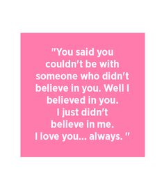 """Seriously loved this. """"I always believed in you."""""""