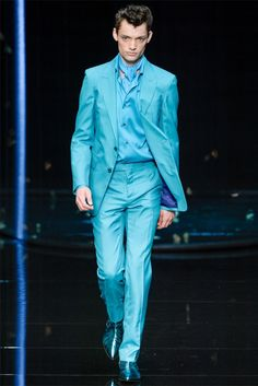 Blue is the new black? Roberto Cavalli Collection Menswear Spring/Summer 2013