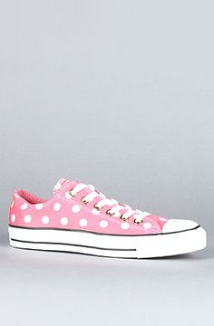 New Pink Polka Dot | Converse Chuck Taylors #sneakers #shoes #white