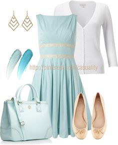 """The Frosted Daisy from 1stGlassDiva would be oh so cute! """"Sky Blue & Tory Burch"""" by casuality on Polyvore"""