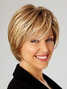 Short hair styles with bangs for women over 40