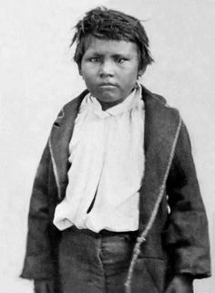Comanche boy Pease Ross was the only male survivor of the 1860 raid in which Cynthia Ann Parker was recaptured from the tribe. Texas Ranger and soldier Sul Ross found the boy and took him to Waco to live with the Ross family. Offered the opportunity to return to the Comanches, he chose to stay with his adopted family. He eventually married the daughter of a former slave. Source: Lawrence T. Jones III. Photo: 1861. (B&W version).