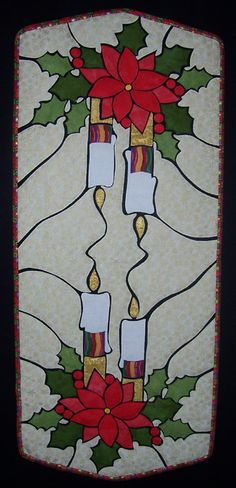 Christmas Table Runner Pattern | Shattered Glass Technique Patterns