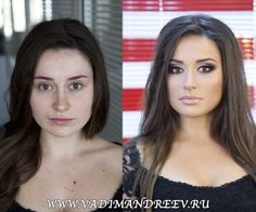 These women's faces are transformed with nothing more than a little contouring and shading with makeup.
