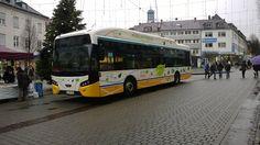 VDL-Bus mit dem Kennzeichen DA-HM-980 der RMV am 14.12.2013 von vorne auf dem Ludwigsplatz.