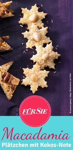 Gemahlene Macadamia-Kerne machen die Macadamia-Kokos-Sterne nach unserem Backrezept so unwiderstehlich lecker. Die Plätzchen schmecken nicht nur als Weihnachtsgebäck.