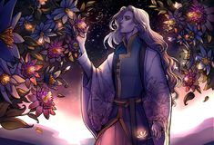 """""""Finrod gentle tugged the flowers free of their restraint. They sparkled in the setting sun, but promised to radiate in the moonlight. He would weave them in Maria's hair, a fitting reminder of her mother and the stars that rested in the Valier's hair."""" The Tale of Time #IntheBeginning"""