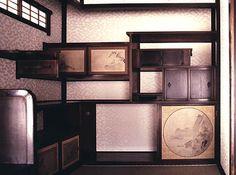 Interior shelving in the main villa, Katsura Imperial Villa, Kyoto, Japan.