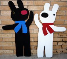 3 ft.Gaspard and Lisa Decorative Character by SweetCarolinesStudio, $90.00