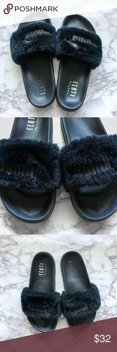 9f08fdd51c87ac Puma X Fenty by Rihanna Slide - Black Get ready for Summer early! Rare  slides