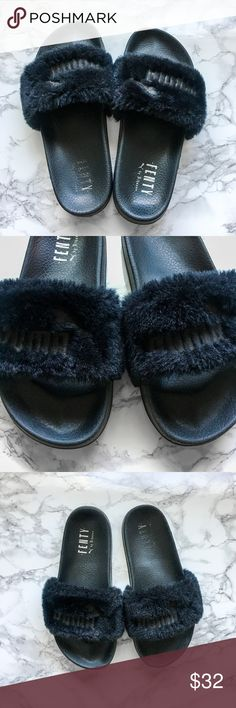 Puma X Fenty by Rihanna Slide - Black Get ready for Summer early! Rare  slides 098ac587e