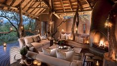 Madikwe Safari Lodge offers exclusive game lodge accommodation in the heart of South Africa's stunning Madikwe Game Reserve. Safari, African Interior, Game Lodge, Lodge Decor, Hotel Interiors, British Colonial, Beautiful Hotels, Architecture, Lodges