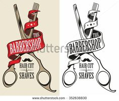 Stock Images similar to ID 248507959 - retro illustration of barber man