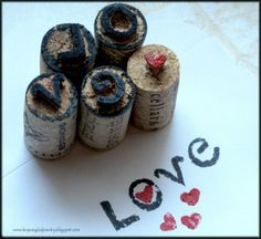 carved wine cork stamps tutorial, upcycled wine cork project, handmade stamps, arts and craft ideas, recycled materials, cork