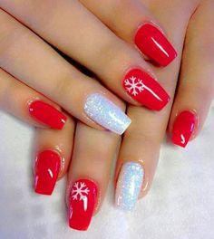 Chistmas Nails, Cute Christmas Nails, Xmas Nails, Holiday Nails, Red Christmas, Valentine Nails, Halloween Nails, Christmas Ideas, Classy Nail Designs