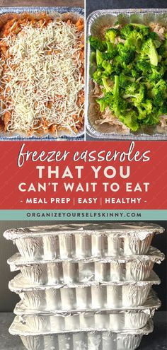 Easy Make Ahead Freezer Casseroles Recipe Vegetarian Freezer Meals, Chicken Freezer Meals, Freezer Friendly Meals, Make Ahead Freezer Meals, Healthy Freezer Meals, Freezer Cooking, Easy Meals, Cooking Tips, How To Clean Freezer