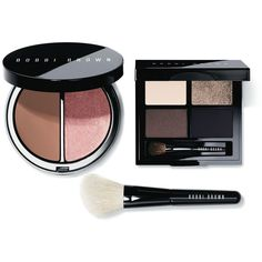 Bobbi Brown Define & Glow Set ($70) ❤ liked on Polyvore featuring beauty products, makeup, cheek makeup, no color, palette makeup, highlight makeup, bobbi brown cosmetics, travel size cosmetics and travel size makeup