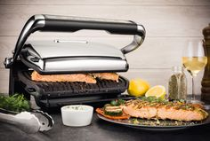 All Clad's electric grill uses a high-tech sensor to detect the perfect cooking time for your food; $400 from Williams-Sonoma. williams-sonoma.com