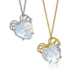 Verdura Bowknot Heart Necklace Pendants Photo courtesy of Verdura