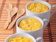 Polenta cremosa aos dois queijos light (Foto: Divulgao)