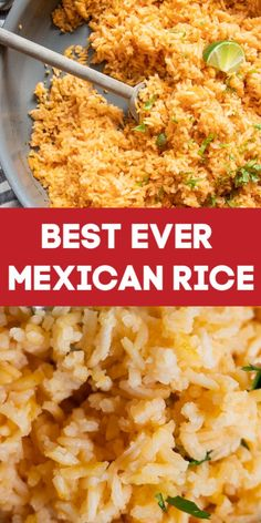 Mexican Rice The best side dish for all your Tex Mex and Mexican meals This rice is flavorful and fluffy This is a great base recipe that you can add to and customize to make your own mexicanfood mexicanrecipes rice sidedish Authentic Mexican Recipes, Rice Recipes For Dinner, Mexican Dinner Recipes, Mexican Meals, Mexican Drinks, Easy Mexican Rice, Easy Mexican Dishes, Herbs, Gourmet