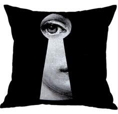 Nordic Style Linen Cotton Fabric Black and White Head Portrait Backrest Home Decorative Cushion Cover