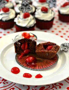 Easy Black Forest Cupcakes   http://flouronmyface.com/2015/01/easy-black-forest-cupcakes.html