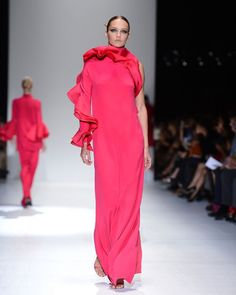 Love this Gucci gown--color and clean lines yet some interest.