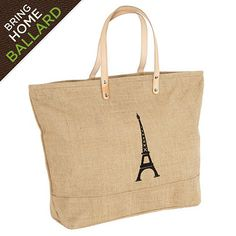 Eiffel Tower Icon Tote  I  ballarddesigns.com