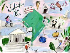 Illustration: Elizabeth Graeber - pinterest @elizabeth_draws  #ElizabethGraeber #washingtondc #usa