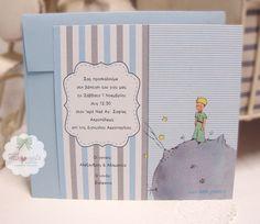 242-Προσκλητήριο μικρός πρίγκιπας Christening Themes, Baptism Invitations, The Little Prince, Baby Shower, Diy, Pints, Shower Ideas, Google, Christening