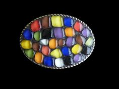 Shoply.com -Abstract Mosaic Belt Buckle. Only $85.00