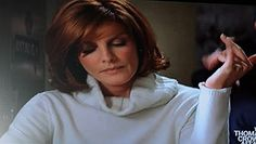 Rene Russo Thomas Crown Affair Hair Cut | My favorite look from the movie. This turtleneck was paired with a ...