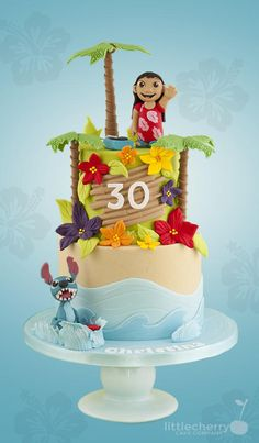 Lilo and Stitch Cake by Little Cherry