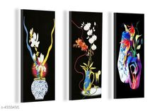 Paintings & Posters Attractive Trendy Wall Posters  Material: MDF  Size- (L X W ): 36 cm X 45 cm Description: It Has 3 Pieces Of Wall Poster Work: Printed Country of Origin: India Sizes Available: Free Size   Catalog Rating: ★4.1 (6086)  Catalog Name: Navratri Multicolor Attractive Trendy Wall Posters Vol 5 CatalogID_622663 C127-SC1611 Code: 391-4339495-792