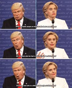"""And when they tackled women's issues. 