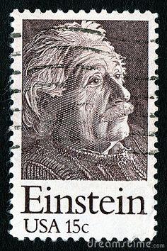 Timbre-poste des Etats-Unis 15c Einstein