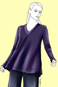 Ein A-Linien-Pullover steht besonders H-, O- und Y-Figurtypen hervorragend.