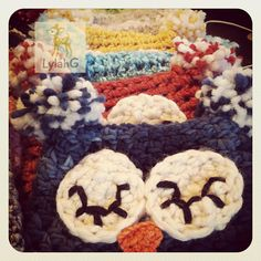 Quick and Easy Infant Owl Beanie pattern by Jill Kearns #crochet #baby #hat