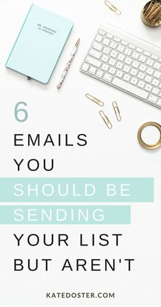 6 Emails Youre Not Sending Your List But Should - Email Marketing - Start your email marketing Now. - 6 Things To Send Your List When You Have No Clue What To Say Kate Doster Email Marketing Strategist E-mail Marketing, Email Marketing Design, Email Marketing Campaign, Email Marketing Strategy, Email Design, Marketing Digital, Business Marketing, Content Marketing, Affiliate Marketing